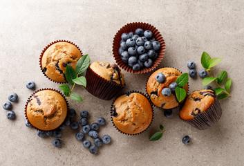 Tvarohové bezlepkové muffiny