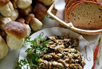 Voňavá smaženice z hříbků